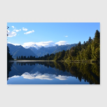 Lake Matheson - New Zealand - 30x20 cm Poster