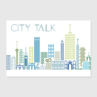 city talk, city, urban - 30x20 cm Poster