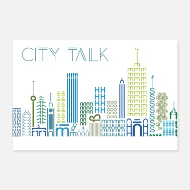 City city talk, city, urban - Poster