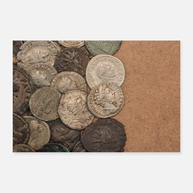 Ancient Ancient Roman coins (poster) - 30x20 cm Poster