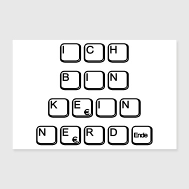 I am not a nerd - 30x20 cm Poster