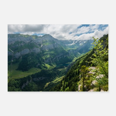 Alpes Alpes suisses. Seealpsee - Poster 30 x 20 cm