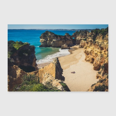 Beach Portugal Algarve lonely sun holiday - 30x20 cm Poster