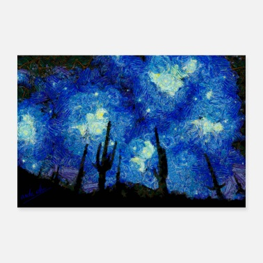 Post Starry Night Over the desert - 30x20 cm Poster