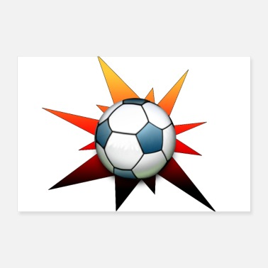 Wereldkampioen Star Football Black Red Gold Gifts - Poster 30x20 cm