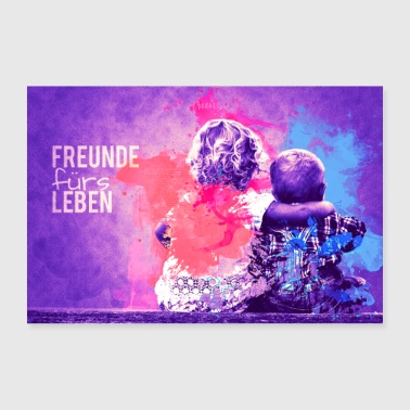Friends for life - 30x20 cm Poster