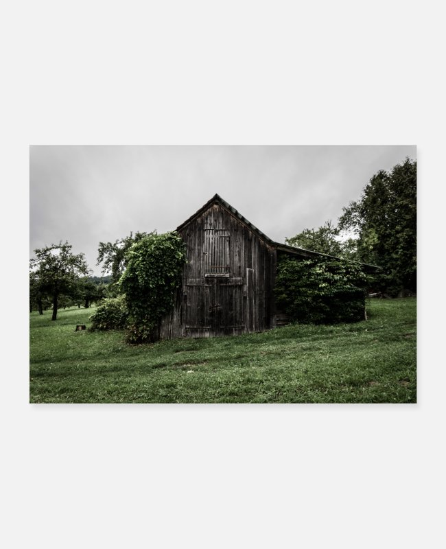 Nature Posters - scary hut - Posters white