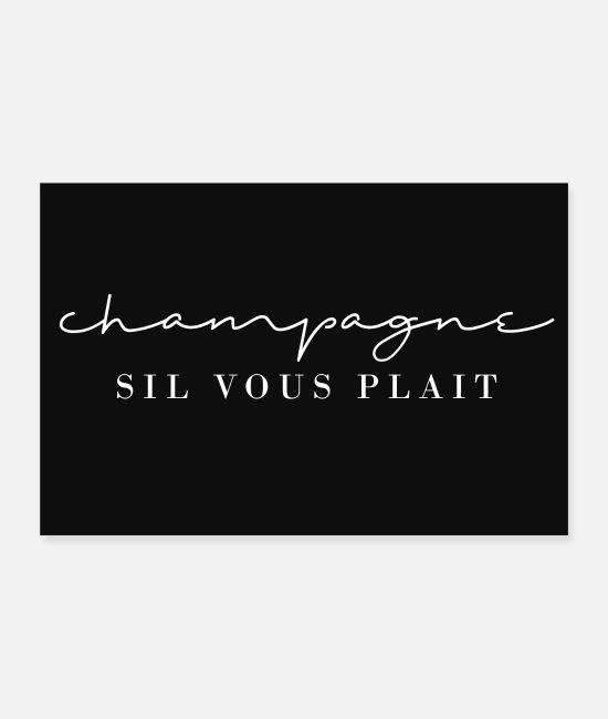 Alcohol Posters - Champagne, please! / Sparkling wine for everyone - Posters white