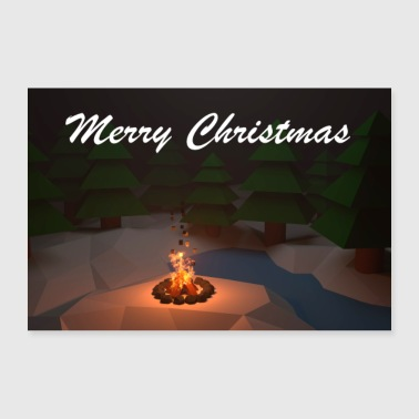 Marry Christmas poster - Poster 30 x 20 cm