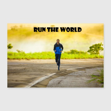 Running in nature - 30x20 cm Poster
