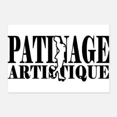 Roller patinage artistique - Poster 30 x 20 cm