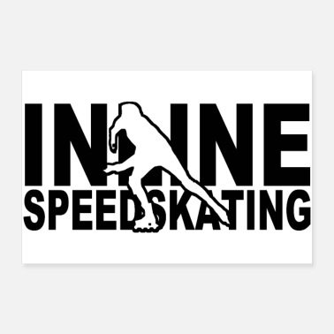 Scooter inline speedskating - 30x20 cm Poster