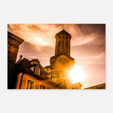 Hall City Hall Fuerth sunshine - Poster