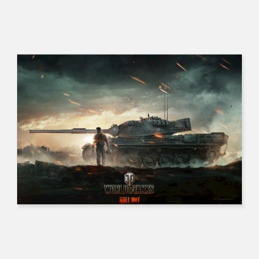 Geek World of Tanks WoT combat épique - Poster 30 x 20 cm