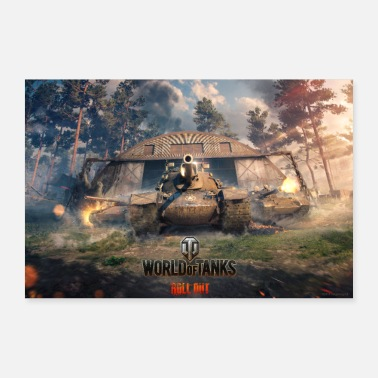 Officialbrands World of Tanks WoT mission win-back - 30x20 cm Poster