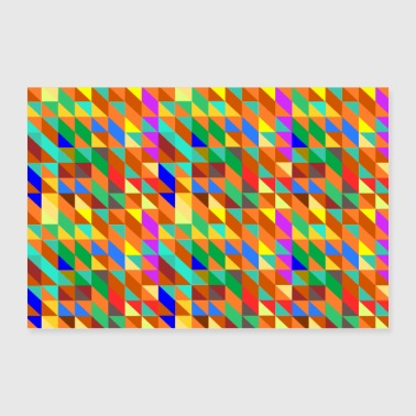 Triangle Colorful triangles - 30x20 cm Poster