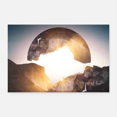 Photo images hipster geometry landscape - 30x20 cm Poster
