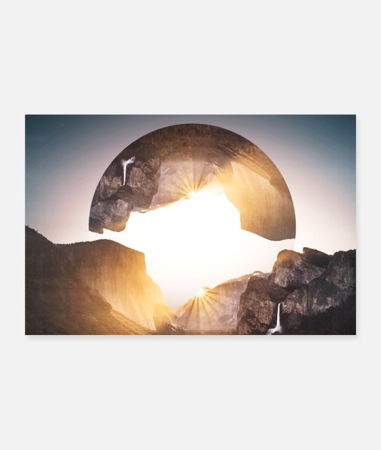 Mountains Posters - Photo images hipster geometry landscape - Posters white