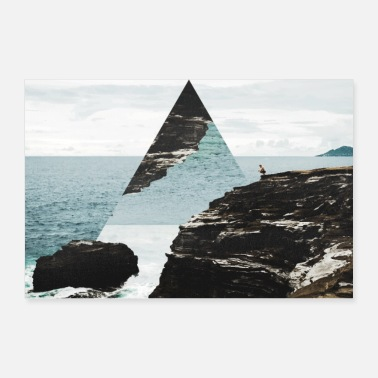 Stylish Photo triangle poster geometry landscape - 30x20 cm Poster