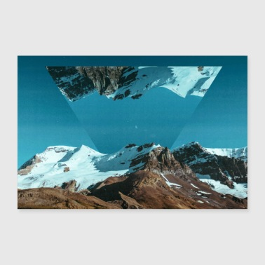 Geometry Photo Images Triangle Geometry Landscape - 30x20 cm Poster