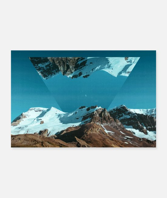 Mountains Posters - Photo Images Triangle Geometry Landscape - Posters white
