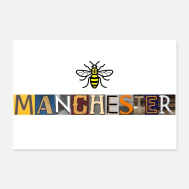 Pride Manchester Letters - 30x20 cm Poster