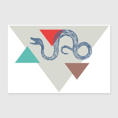 Snake triangle design - 30x20 cm Poster