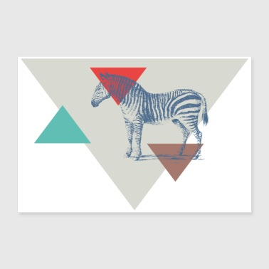 Zebra triangle design - 30x20 cm Poster