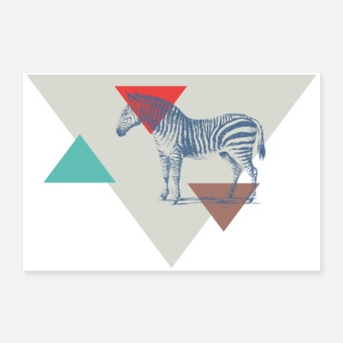 Triangle Zebra triangle design - 30x20 cm Poster