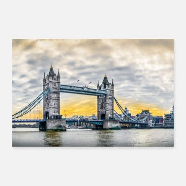 United Tower Bridge aamulla. - Juliste 30x20 cm