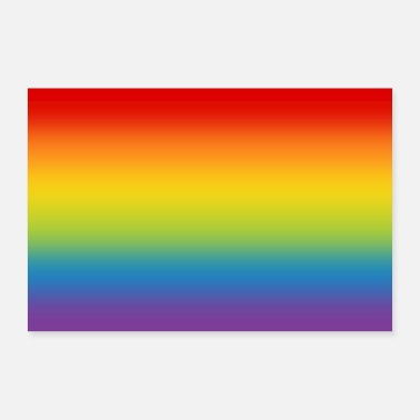 Pride Poster rainbow flag flag LGBT gradient - 30x20 cm Poster