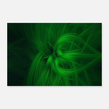 Abstract Abstract Abstract Art Pattern Blossom - Poster 30x20 cm