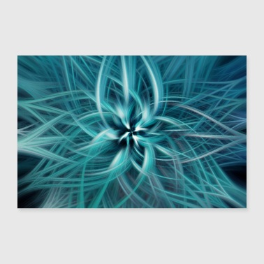 Abstract Abstract Art Pattern Blossom - Poster 30x20 cm