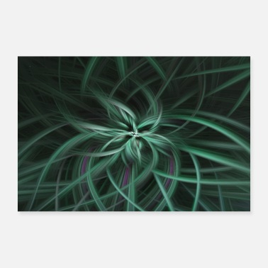 Abstract Abstract Abstract Art Pattern Blossom - Poster