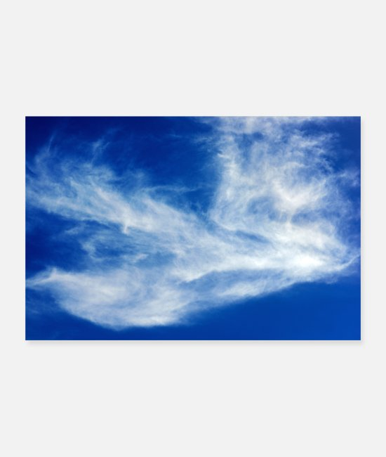 Weather Posters - Blue sky - Posters white