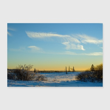 December Winter landscape poster - 30x20 cm Poster