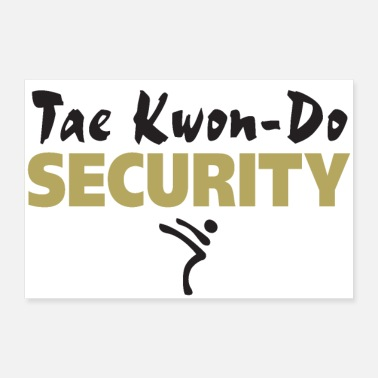 Taekwondo Taekwondo Security black & gold print - 30x20 cm Poster