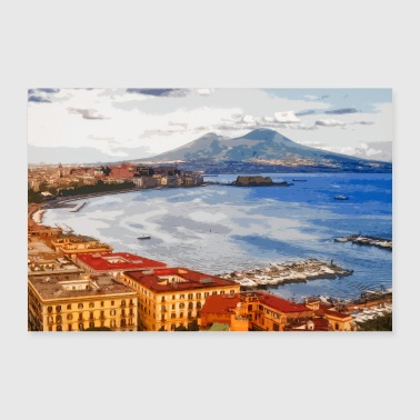 The Bay of Naples (digital drawing) - 30x20 cm Poster