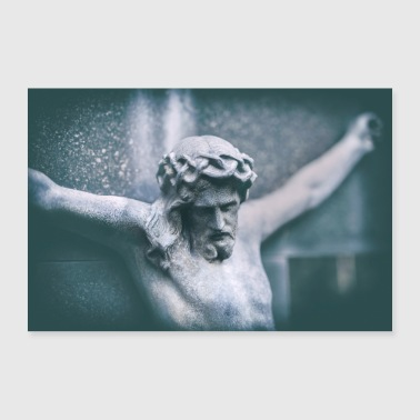 Jesus on the cross - 30x20 cm Poster