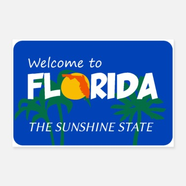State Florida - 30x20 cm Poster