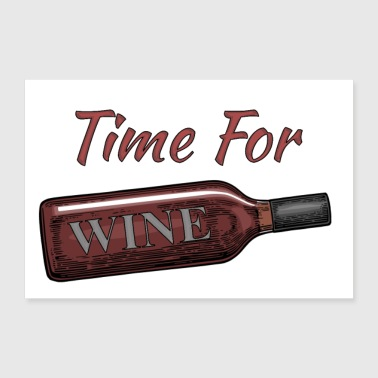 Time for Wine - 30x20 cm Poster