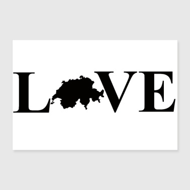 Switzerland I Love Switzerland (Switzerland) - 30x20 cm Poster