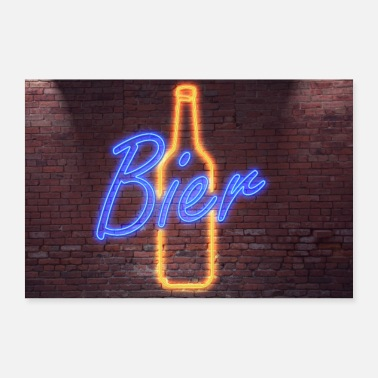 Neon Neon neon sign lettering - 30x20 cm Poster