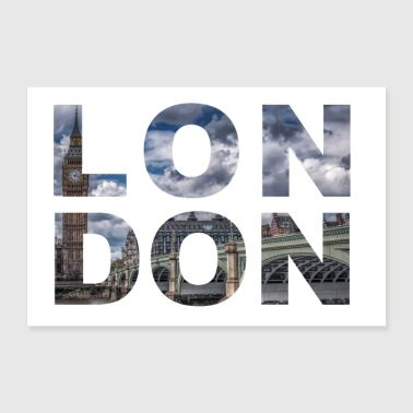 London City Lettering - Poster 30x20 cm