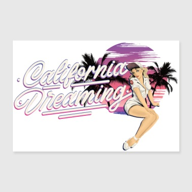 CALIFORNIA DREAMING Pin-Up edition Tee Shirt - Poster 30 x 20 cm