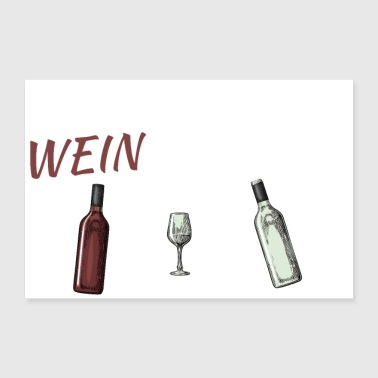 THE WINE DISTRICT (word game multiplayer with wine) - 30x20 cm Poster
