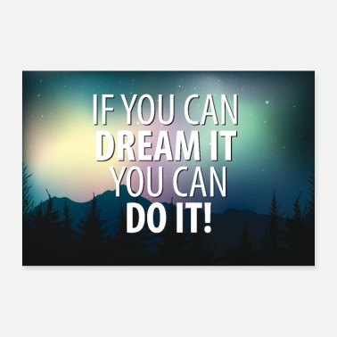 Fitness Motivational Poster If you can dream it you can do - 30x20 cm Poster