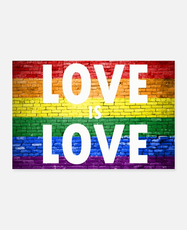 Gay Pride Posters - Love is Love Gay Pride - Posters wit