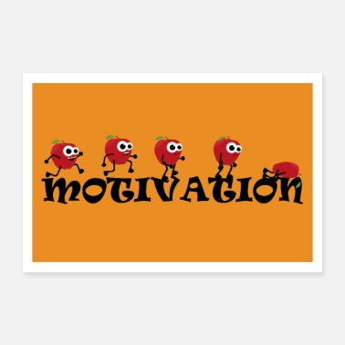Motivation Motivation Apfel Sport - Poster
