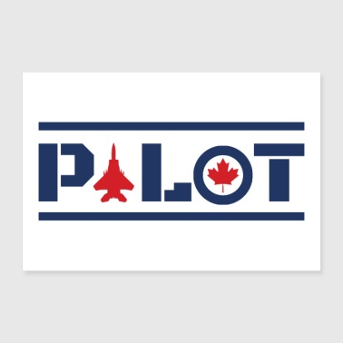 Nose Art Pilot Canada maple leaf blue gift idea - 30x20 cm Poster